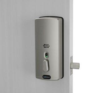 รูปด้านหลัง deadbolt lockly digital doorlock