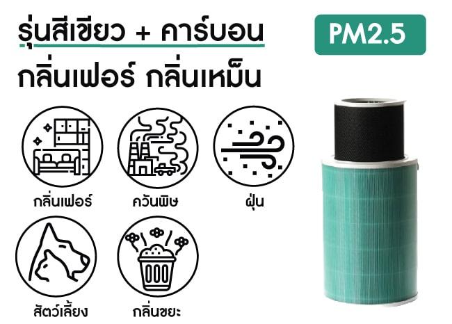 ไส้ กรอง อากาศ xiaomi สีเขียว carbon pm2.5