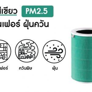 ไส้ กรอง อากาศ xiaomi สีเขียว pm2.5