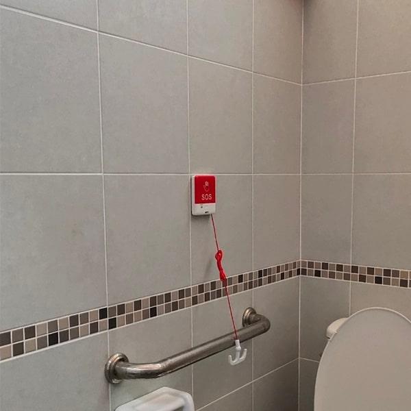 ปุ่มกดแบบมีสาย ติดห้องน้ำ