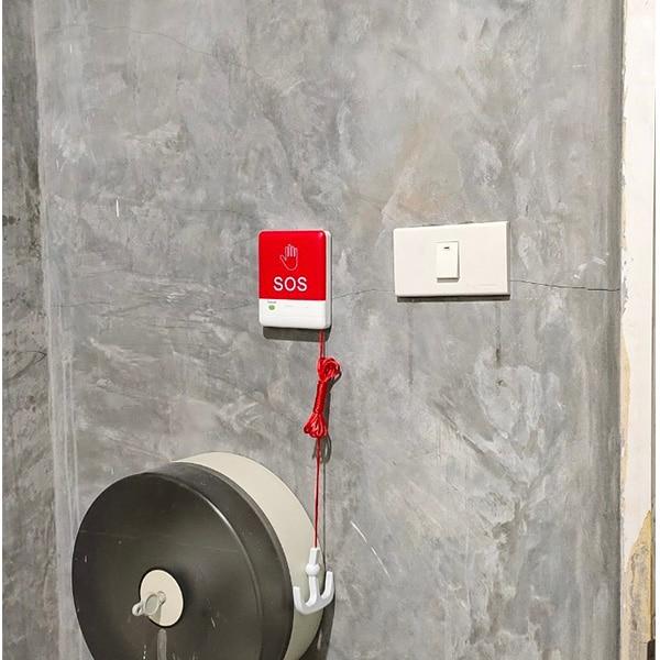 ปุ่มกดแบบไร้สาย ติดห้องน้ำ